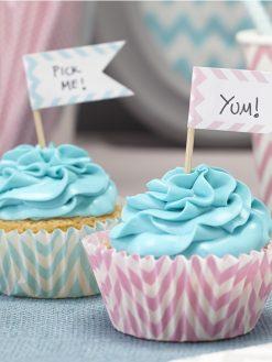 Cupcake Topper zum Selbstbeschriften