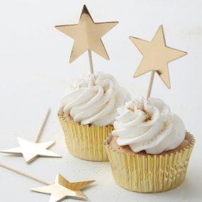 Cupcake Topper goldener Stern