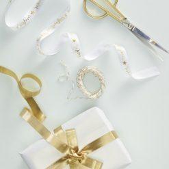 Geschenkband Set gold weiss