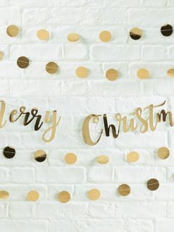 Girlande Merry Christmas gold