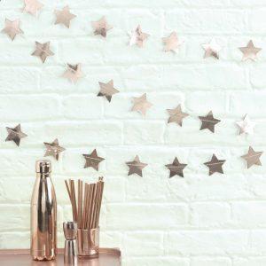 Rosé gold Sternengirlande