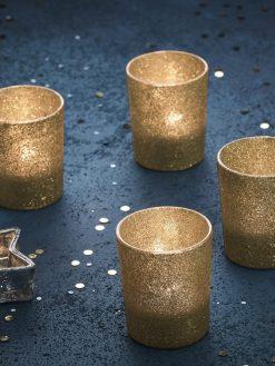 Goldene Teelichtgläser