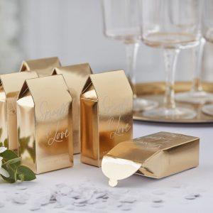 Konfettibox gold Hochzeit
