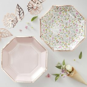 Papierteller florales Motiv