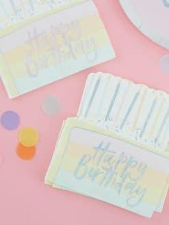 Serviette Geburtstag Kuchenform