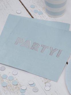 Serviette Aufdruck Party