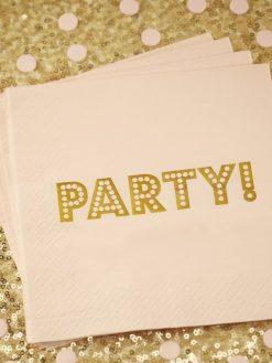 Serviette mit Aufdruck Party