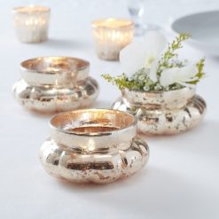 Teelichthalter gold im Vintage Look