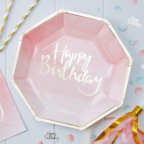 Papierteller Happy Birthday