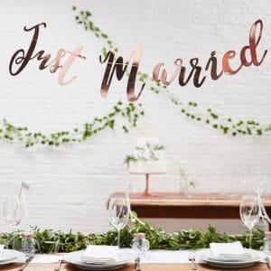 Just Married Girlande