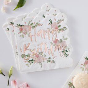 Serviette Geburtstag Floral