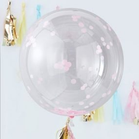 Riesiger Kugel Luftballon mit Konfetti