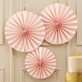 Dekofächer Pastell Pink