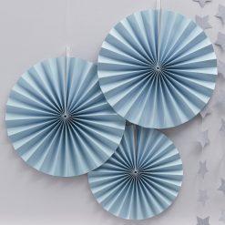 Dekofächer pastellblau