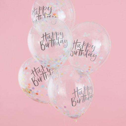 Konfettiballon Happy Birthday
