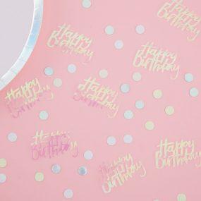 Schimmerndes Tischkonfetti Geburtstag