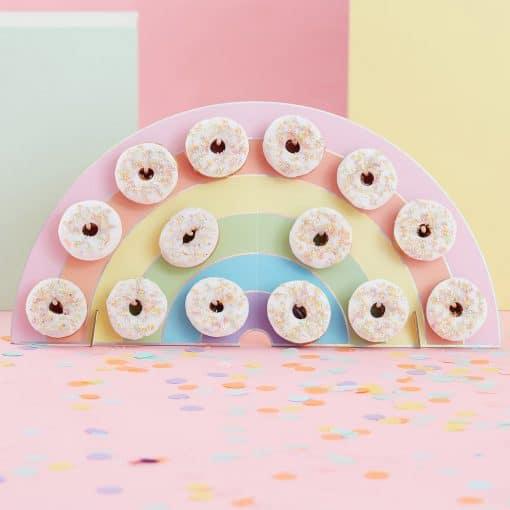 Regenbogen Donut Wand