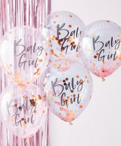 Konfetti Luftballon Baby Girl