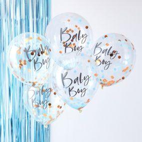 Konfetti Luftballon Baby Boy