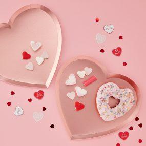 Papierteller Herzform