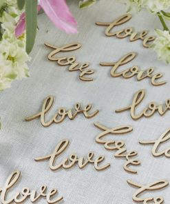 Streukonfetti Holz Love