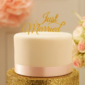 Cake Topper Just Married