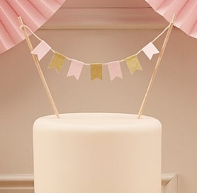 Cake Topper Wimpelkette