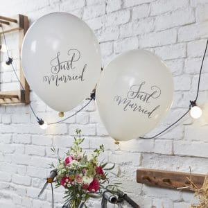Just Married Luftballons