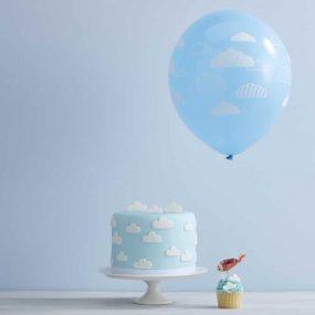 Luftballons mit Wölkchen
