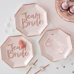 Papierteller Team Bride
