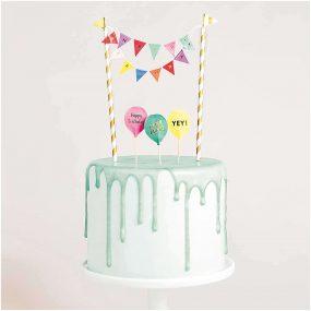 DIY Cake Topper Happy Birthday