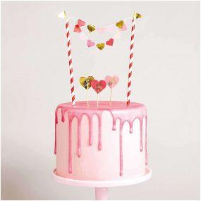 DIY Cake Topper Herzen