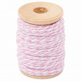 Baumwollgarn rosa weiss