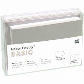 Kartenset Grau Weiss