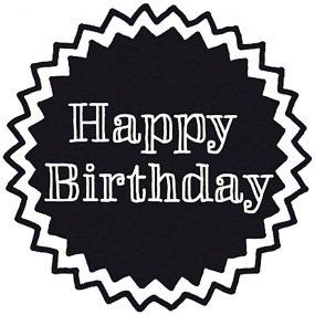 Stempel Happy Birthday