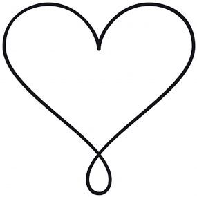 Stempel Herz mit Schlaufe