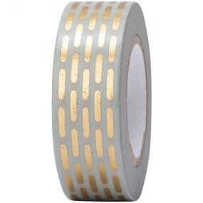 Tape gestrichelt gold