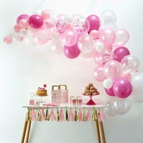Luftballon Bogen pink